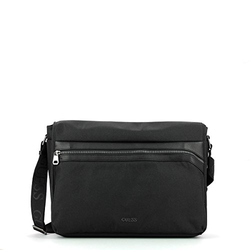 GUESS BORSA Uomo T/U 89%PA 11%PU GLOBAL FUNCTIONAL MESSENGER BLACK BLACK