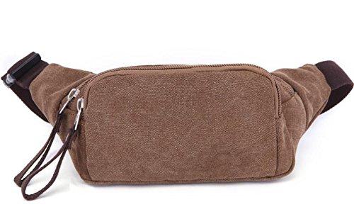 &ZHOU Borsa di tela, Uomini e donne tela borsa, borsa casual, pacchetto portabile telefono pacchetto portafoglio Borse, pacchetto di ammissione personali , black coffee color