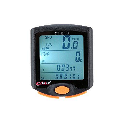 Lixada Sans Fil Bicyclette Vélo Cyclisme Ordinateur Odomètre Compteur de Vitesse Chronomètre Thermomètre Lumière de Nuit Rétro-éclairage Rétroéclairé Imperméable Multifonctionnel