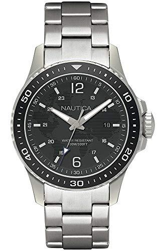 Nautica orologio analogico quarzo uomo con cinturino in acciaio inox napfrb007, 44 mm