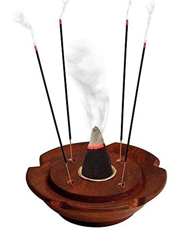 Crafts Al-numan Premium de qualité en bois sculpté de bâtons d'encens et cône support