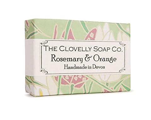 Clovelly Soap Co natürliche, handgefertigte Seife mit Rosmarin & Orange für alle Hauttypen 100g