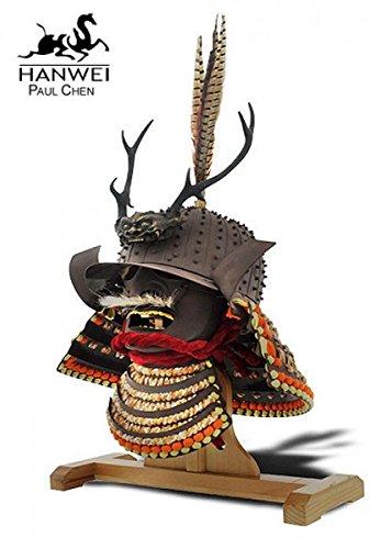 Samurai Helm Daisho Kake + Hochwertig Samuraihelm von Hanwei (Samurai Helm Kostüm)