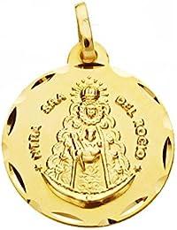 Medalla oro 9k Virgen del Rocío 18mm. [AB0549]