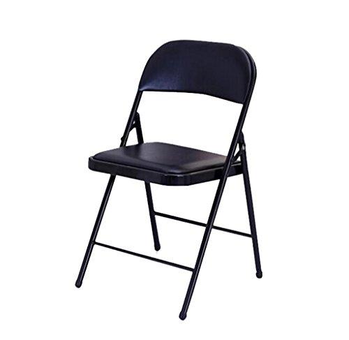 Accueil/Chaise de loisirs en plein air Chaise pliante Chaise d'ordinateur simple Chaise de dossier à tabouret à manger, noir / 44 * 40 * 78cm BZEI-Chair
