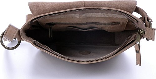 MASQUENADA, Cntmp, Donna, Borsa a tracolla, Borse a mano, Borsa a spalla, In Pelle Naturale, 26 x 22 x 8 cm beige