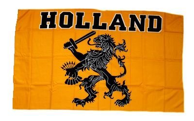 Fahne / Stockflagge Holland Oranje 30 x 45 cm Flagge