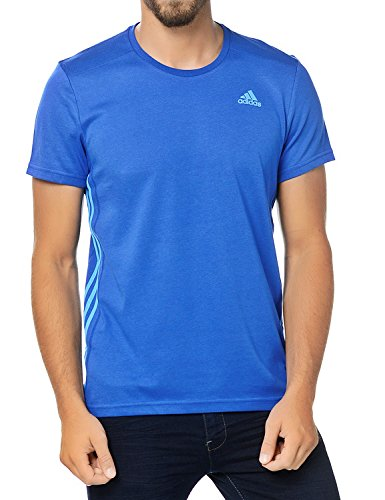 adidas Herren Kurzärmliges T-Shirt Essentials S Blau - blau (Climalite T-shirt Performance)