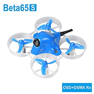 BETAFPV Beta65S Frsky Whoop 1S Brushed Whoop with F4 FC Frsky Receiver Z02 Camera OSD Smart Audio 7X16 19000KV Motor for Tiny Whoop Racing