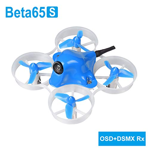 BETAFPV Beta65S Frsky Whoop Drone 1S Brushed FPV Quadcopter with F4 FC Frsky Receiver Z02 Camera OSD Smart Audio 7X16 19000KV Motor for Tiny Whoop FPV Racing