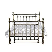 Victoria 5ft King Size Traditional Antique Brass Bed by Harmony Beds