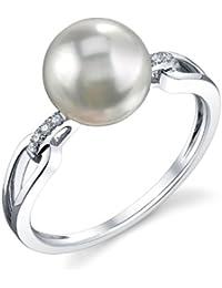 13c79927e36 8.5–9.0 mm Perle de culture Akoya et diamant Holly Bague en ...