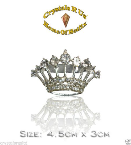 Preisvergleich Produktbild Totenkopf Krone 4cm Vintage Brosche Kristall