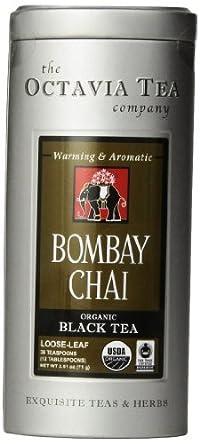 Octavia Tea Bombay Chai (Organic Black Tea) Loose Tea, 2.51-Ounce Tin