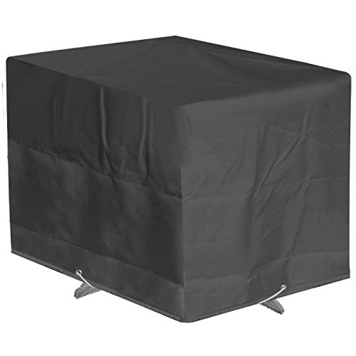 GREEN CLUB Housse de protection pour table de jardin 110x110x65cm - Anthracite