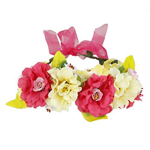 Guirlande de Fleurs Bandeau de Cheveux Boho Décoration Festival Mariage