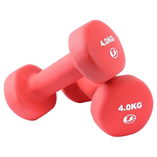 Ultrasport Gymnastikhanteln  2er-Set Aerobic Hanteln,2 x 9 lb/4 kg