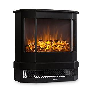 Klarstein Castillo • elektrischer Kamin • Kaminofen • Flammensimulation • 1000 W oder 2000 W • Halogen-Beleuchtung • Überhitzungsschutz • bis 40 m² • Metallgehäuse • schwarz