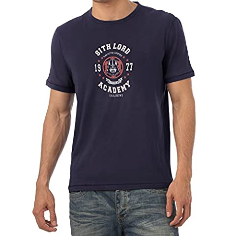 TEXLAB - Sith Lord Academy - Herren T-Shirt, Größe L, navy (Wookie Jedi Kostüm)