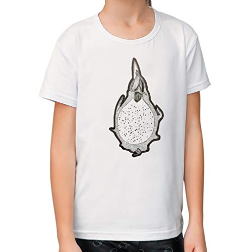 feiXIANG Kinder T-Shirt Top Frühling Sommer Mode Mädchen Kurzarm Sweatshirt Obst Drucken Oberteile 1-6 Jahre(Weiß 1,S/12-18 ()