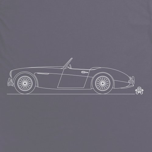 PistonHeads 1959 British Roadster Sports Car T-Shirt, Herren Anthrazit