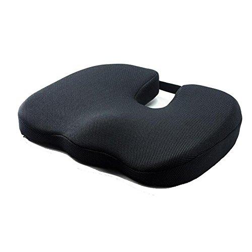 QLL HuanLeBao Auto Bestanden Comfort Steißbein Orthopädische 70D Memory Foam Sitzkissen , Black