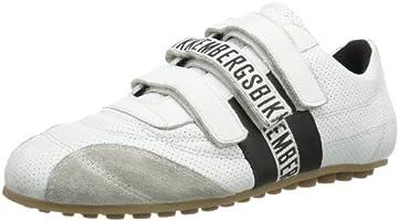 Bikkembergs Soccer 526 Sneaker a Collo Basso, Unisex Adulto, Bianco (White/Black), 45
