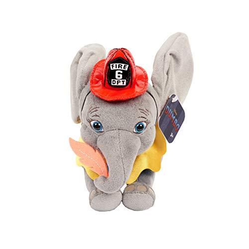 Disney: Dumbo Just Play - 53304 Dumbo der Elefant - Plüschtier mit Feuerwehrmann-Outfit, 15cm