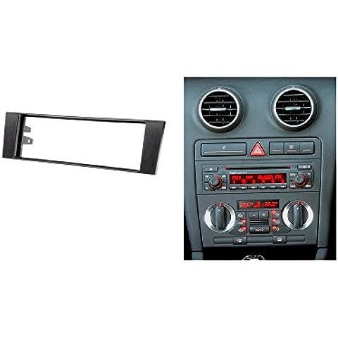 autostereo 11–007doble DIN panel de radio para radio de coche Adaptador para Audi A38P 8PA 2003–2008Radio de coche Borde de instalación de