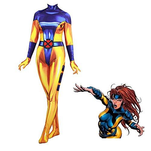 3D Digitaldruck X-Men Phoenix Girl Cosplay Eng Anliegende Kleidung Anime Kostüm Erwachsene Halloween Kostüm - X Men Girl Kostüm