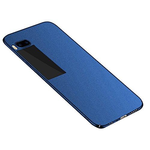 Baanuse Meizu Pro 7 Hülle, [Ultra Slim Hart PC] [Sand scheuern rutschfest] [Stoßfest Rüstung] Schutzhülle für Meizu Pro 7 Blau