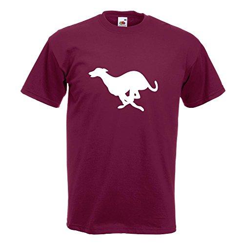 KIWISTAR - Windhund T-Shirt in 15 verschiedenen Farben - Herren Funshirt bedruckt Design Sprüche Spruch Motive Oberteil Baumwolle Print Größe S M L XL XXL Burgund