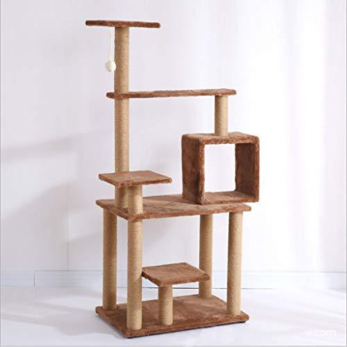 Kratzbaum Katze Klettergerüst Katzenkratzspalte Katzensprungplattform Heimtierbedarf Katzenspielzeug aus Holz (Farbe : Braun) -