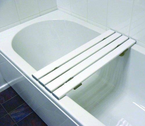 Drive Medical SBB427WH Badewannenaufsatz / Badewannenablage, 4Latten, 68x24x 2cm, Weiß