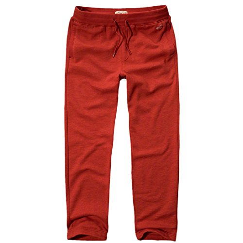 hollister-mens-textured-icon-straight-sweatpants-trousers-size-l-red-624105249