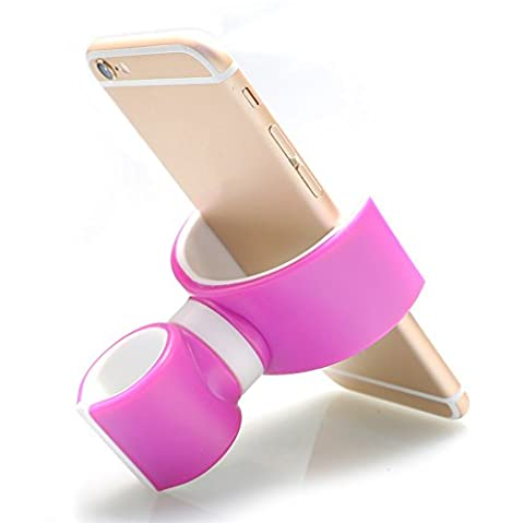 Unho Support Vélo Universel Support Téléphone Stand Voiture Air Vent Mont Smartphone Multifonctionnel pour iphone 6s plus 6s 6 plus 6 5s 5 4s,Samsung Galaxy S7 S6 Note5,HTC ,Sony xperia,LG,Nokia,Wiko etc?rose?