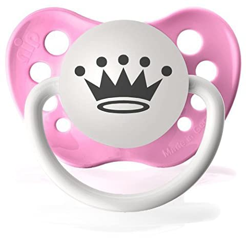 Personalized Pacifiers Princess Crown Pacifier in Pink by Ulubulu (English Manual)