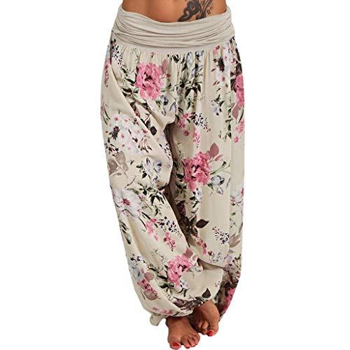 Mosstars Pantalones Deportivos Mujer Yoga Pantalones de Mujer Estampado Floral Pantalones de Pierna Ancha Pantalones de harén Bolsillo Suelto Pantalones de Yoga Mujer Leggins
