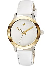 Fastrack Monochrome Analog White Dial Women's Watch -NK6078SL02