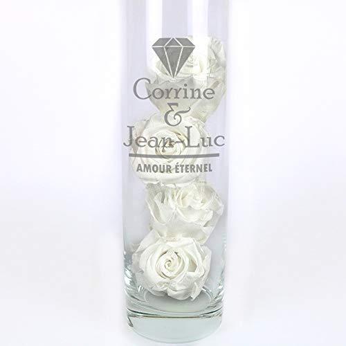 CADEAUX.COM Vase Mariage Personnalisable et Ses 4 Boutons de...