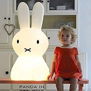 Stangent LED-Nachtlicht, niedlich, Bär, Kaninchen, Nachttischlampe, Cartoon, Dekorative Tischlampe, Weihnachtsgeschenk…