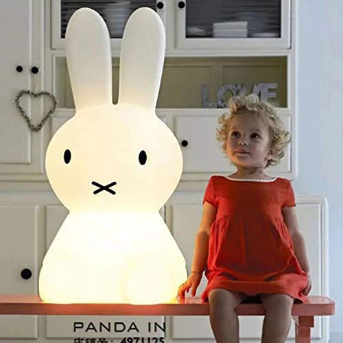 Stangent Cute Bear Rabbit LED Nachtlicht Nachtlicht Baby Schlaflampe Cartoon Deko Tischlampe Weihnachten Geschenk für Kinder Baby Mädchen Jungen Modern hase