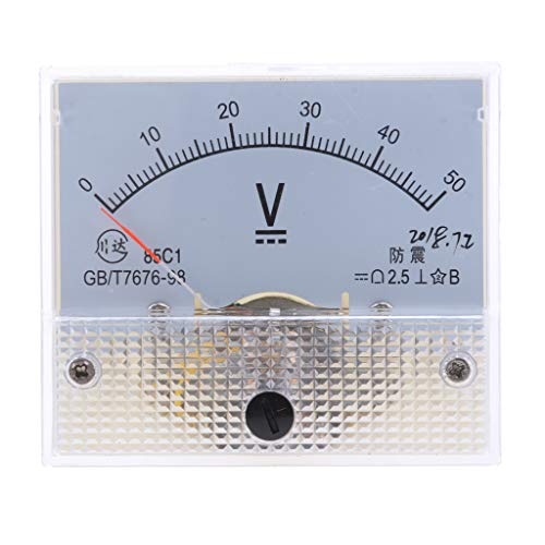 perfeclan 85C1 Klasse 2,5 Voltmeter Analog Volt Panel Voltmeter Analog Spannungs Messgerät - 0-50 V Dc Analog Voltmeter-panel