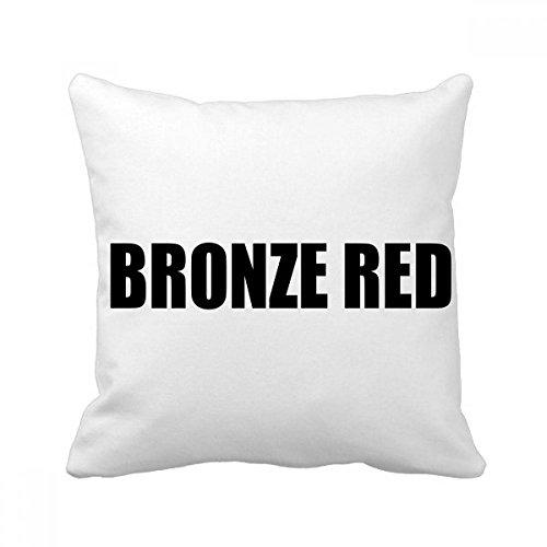 DIYthinker Bronze Rot Farbe Schwarz-Name-Platz Dekokissen Kissenbezug Startseite Dekor-Geschenk 40 x 40cm (Es gibt einige Messfehler) Mehrfarbig -