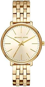 ساعة بايبر للنساء من مايكل كورس، بمينا ذهبي وسوار من الستانلس ستيل وعرض انالوج - MK3898