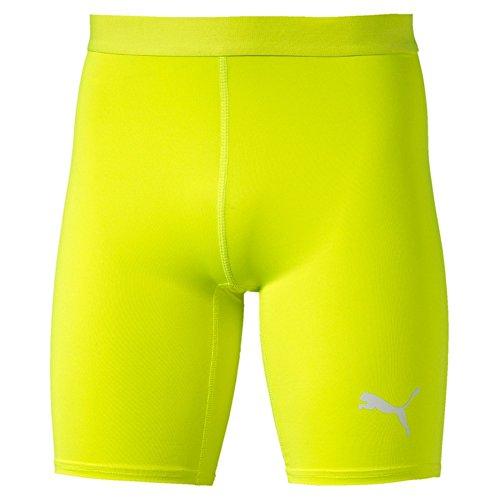 PUMA Herren Hose TB-Shorts Tights safety yellow
