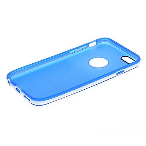 iPhone 6 Hülle,COOLKE [Blau] TPU Silikon Tasche Schutzhülle Etui Case Cover Hülle Schale für Apple iPhone 6 Blau
