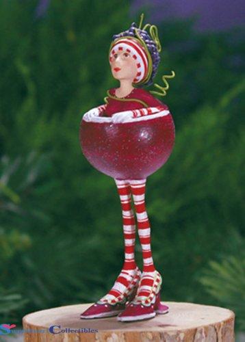 Geduld Brewster groß 21,6cm Ruby die rot Wein Mädchen Weihnachten Urlaub Baum Ornament