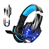 Kotion Each PS4 Gaming Headset PC mit Mikrofon LED Xbox One Headset Band Pro Stereo Kopfhörer...