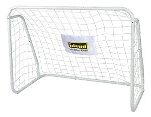 Idena 40099 - Portería de fútbol de Metal con Red, a Partir de 6 años, Aprox. 124 x 96 x 61 cm, Montaje rápido, Ideal para jardín, Parque, Playa o salón.